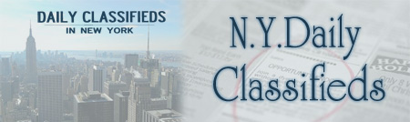 nydailyclassifieds.com, family friendly and local classifieds market in the USA.